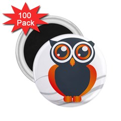 Owl Logo 2 25  Magnets (100 Pack)  by BangZart