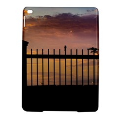Small Bird Over Fence Backlight Sunset Scene Ipad Air 2 Hardshell Cases by dflcprints