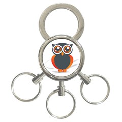 Owl Logo 3 Ring Key Chains