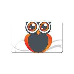 Owl Logo Magnet (name Card) by BangZart