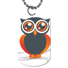 Owl Logo Dog Tag (two Sides)