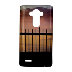 Small Bird Over Fence Backlight Sunset Scene Lg G4 Hardshell Case by dflcprints