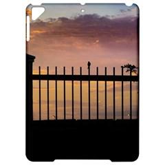 Small Bird Over Fence Backlight Sunset Scene Apple Ipad Pro 9 7   Hardshell Case by dflcprints