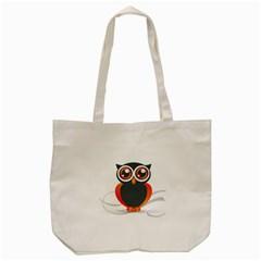 Owl Logo Tote Bag (cream) by BangZart