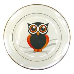 Owl Logo Porcelain Plates by BangZart