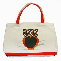 Owl Logo Classic Tote Bag (red)
