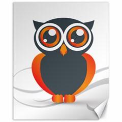 Owl Logo Canvas 11  X 14