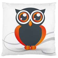 Owl Logo Large Cushion Case (two Sides) by BangZart
