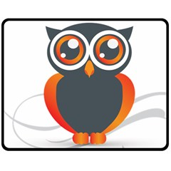 Owl Logo Double Sided Fleece Blanket (medium)  by BangZart