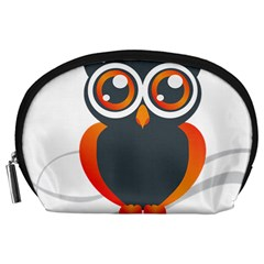 Owl Logo Accessory Pouches (large)  by BangZart