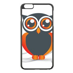 Owl Logo Apple Iphone 6 Plus/6s Plus Black Enamel Case by BangZart