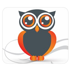 Owl Logo Double Sided Flano Blanket (small)  by BangZart