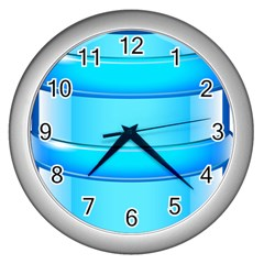 Large Water Bottle Wall Clocks (silver)  by BangZart