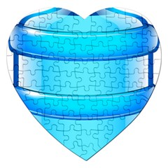 Large Water Bottle Jigsaw Puzzle (heart)