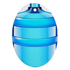 Large Water Bottle Oval Ornament (two Sides)
