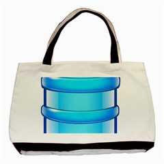 Large Water Bottle Basic Tote Bag (two Sides)