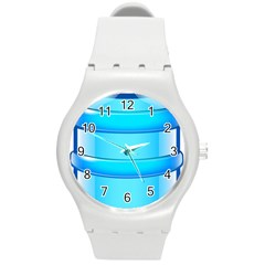 Large Water Bottle Round Plastic Sport Watch (m) by BangZart