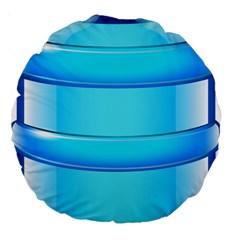 Large Water Bottle Large 18  Premium Round Cushions by BangZart