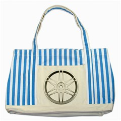Wheel Skin Cover Striped Blue Tote Bag by BangZart