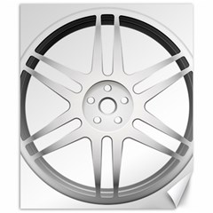 Wheel Skin Cover Canvas 8  X 10  by BangZart