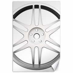 Wheel Skin Cover Canvas 24  X 36  by BangZart