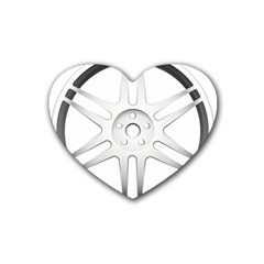 Wheel Skin Cover Rubber Coaster (heart)  by BangZart