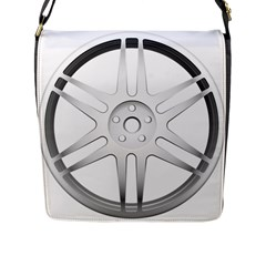 Wheel Skin Cover Flap Messenger Bag (l)  by BangZart