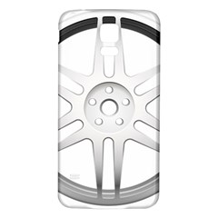Wheel Skin Cover Samsung Galaxy S5 Back Case (white)