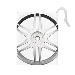 Wheel Skin Cover Drawstring Pouches (large)  by BangZart