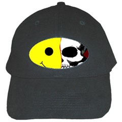 Skull Behind Your Smile Black Cap by BangZart