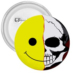 Skull Behind Your Smile 3  Buttons