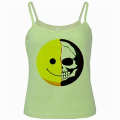 Skull Behind Your Smile Green Spaghetti Tank