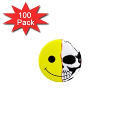 Skull Behind Your Smile 1  Mini Magnets (100 Pack)