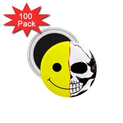 Skull Behind Your Smile 1 75  Magnets (100 Pack)  by BangZart