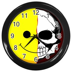 Skull Behind Your Smile Wall Clocks (black)
