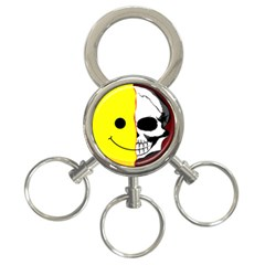 Skull Behind Your Smile 3 Ring Key Chains by BangZart