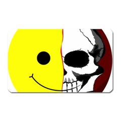 Skull Behind Your Smile Magnet (rectangular) by BangZart