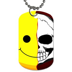 Skull Behind Your Smile Dog Tag (two Sides)