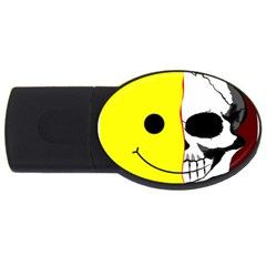 Skull Behind Your Smile Usb Flash Drive Oval (2 Gb)
