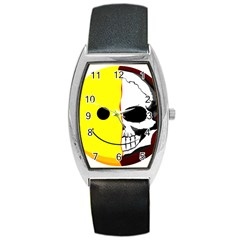 Skull Behind Your Smile Barrel Style Metal Watch