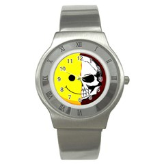 Skull Behind Your Smile Stainless Steel Watch by BangZart