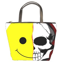 Skull Behind Your Smile Bucket Bags by BangZart