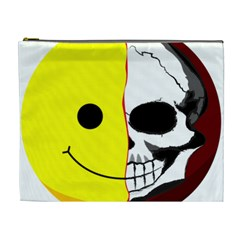 Skull Behind Your Smile Cosmetic Bag (xl) by BangZart