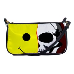 Skull Behind Your Smile Shoulder Clutch Bags by BangZart