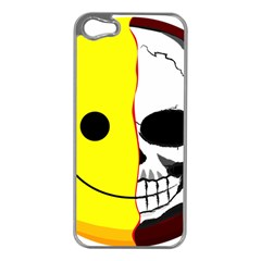 Skull Behind Your Smile Apple Iphone 5 Case (silver)
