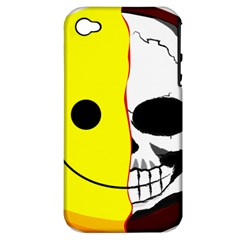Skull Behind Your Smile Apple Iphone 4/4s Hardshell Case (pc+silicone)