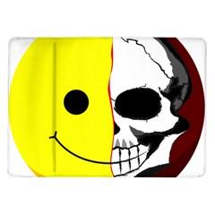 Skull Behind Your Smile Samsung Galaxy Tab 10 1  P7500 Flip Case
