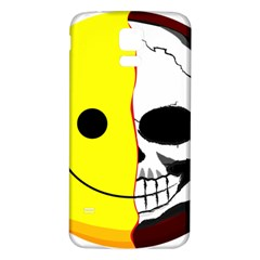 Skull Behind Your Smile Samsung Galaxy S5 Back Case (white) by BangZart
