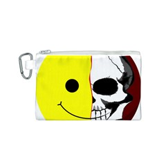 Skull Behind Your Smile Canvas Cosmetic Bag (s) by BangZart