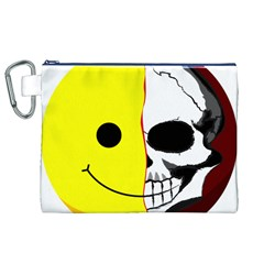 Skull Behind Your Smile Canvas Cosmetic Bag (xl) by BangZart